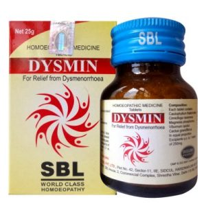SBL Dysmin Tablets for Dysmenorrhoea or Painful Menstruation, period cramps