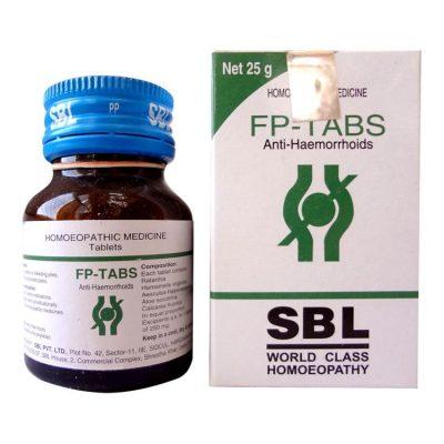 SBL FP Tabs Homeopathy medicine Fissures Piles Ratanhia Hamamelis virginica Aesculus hip Calcarea fluorica