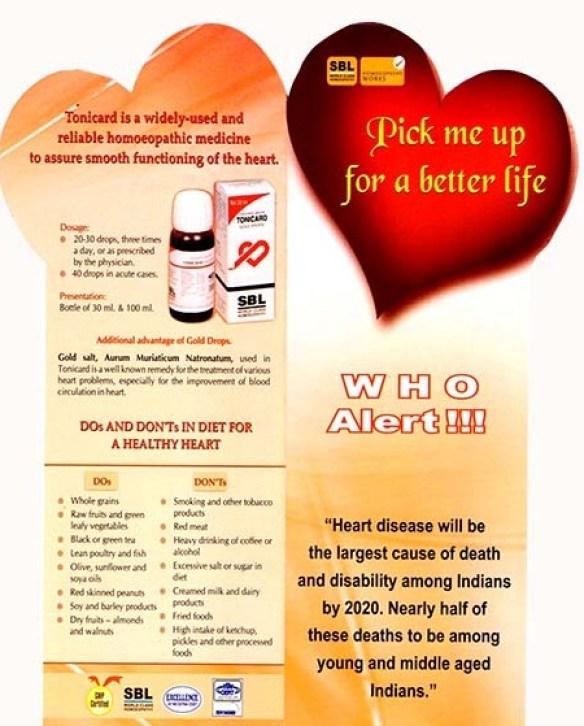 SBL Homeopathy Tonicard Heart drops