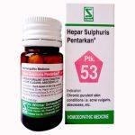 Schwabe Hepar Sulphuris Pentarkan Tablet for Chronic Purulent Skin condition, Acne Vulgaris