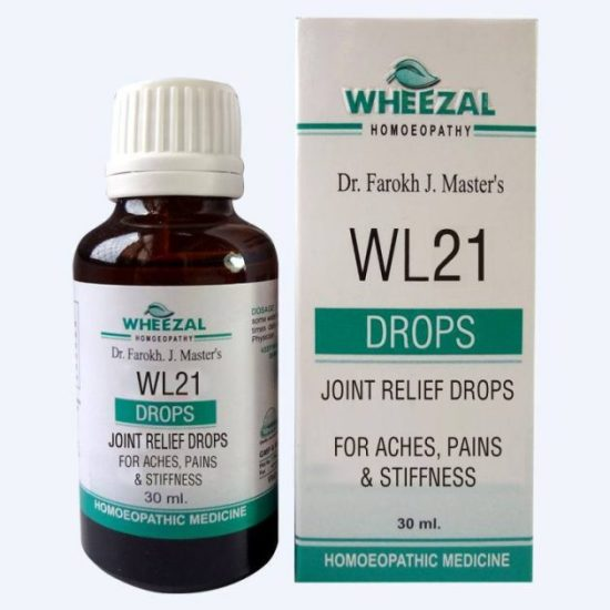 Wheezal WL 21 Homeopathic Joint Relief Drops for Aches, Pains & Stiffness, arthritis
