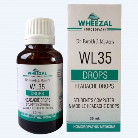 Wheezal WL 35 Homeopathic Student's computer and Mobile Heacache Drops