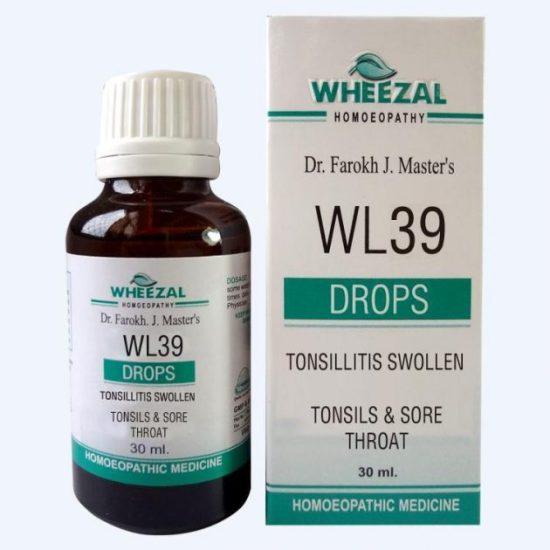 Wheezal WL 39 Homeopathic medicine for Tonsillitis, Sore Throat