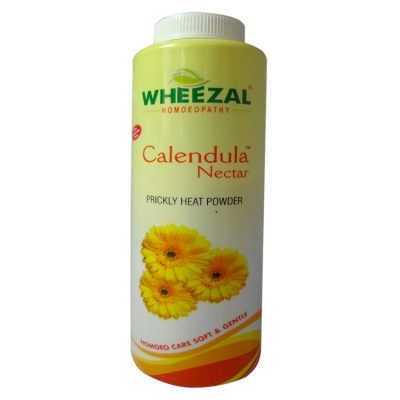 Wheezal Calendula Nectar Powder for Prickly Heat Treatment, Talcum powder for dhobi itch