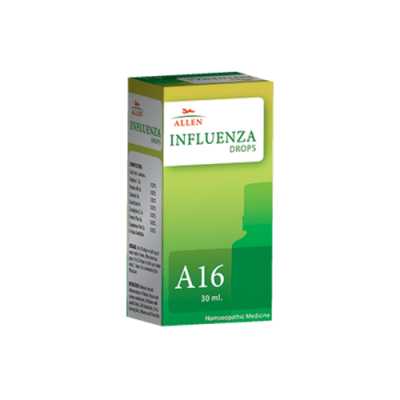 Allen A16 Influenza Drops, homeopathy medicine for flu