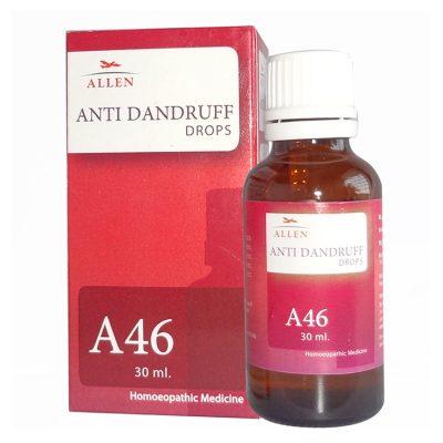 Allen A46 Anti Dandruff Drops, dandruff homeo remedy.