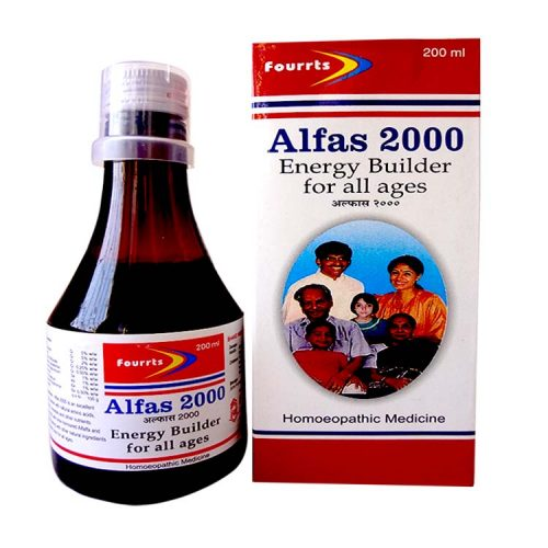 Fourrts Alfas 2000 Liquid for Anemia. Homeopathic energy builder Tonic