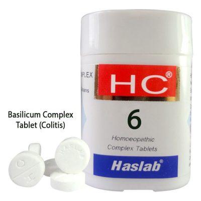 Haslab HC-6 Basilicum Complex Tablet for Colitis
