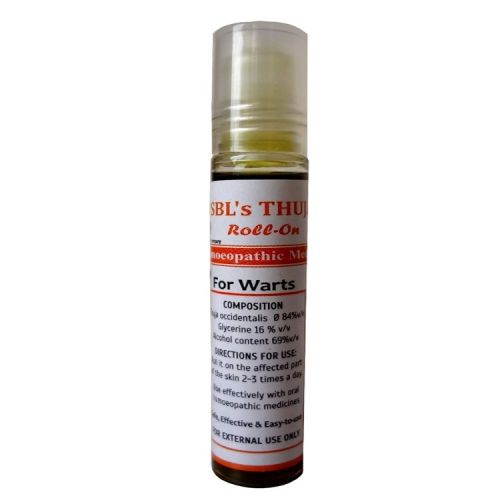 Sbl Thuja Roll On for Warts treatment. Contains Thuja Occidentalis Q, handy easy to use direct skin application, 10ml