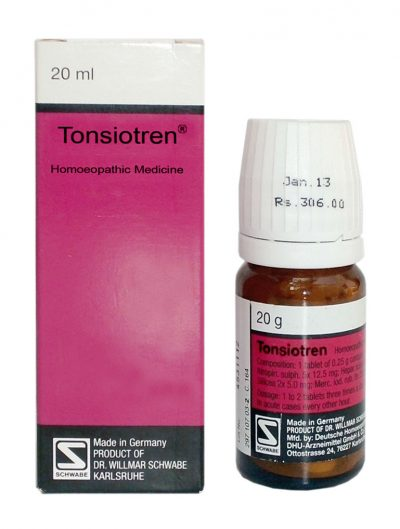 Schwabe German Tonsiotren homeopathic Tablets for Tonsils