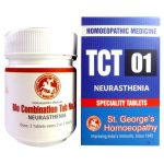 St George Homeopathic Tissue Complex Tablet TCT 1 for Neurasthenia