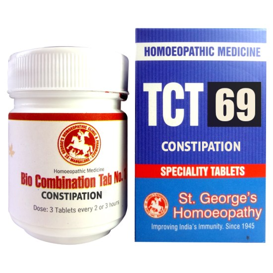 St George TCT 69 Homeopathic Tissue Complex Tablets for Constipation
