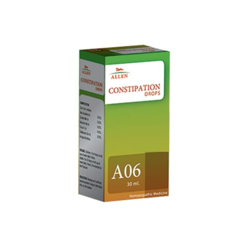 Allen A06 Constipation Drops, acts as a mild laxative, for bloating and insufficient bowel movement