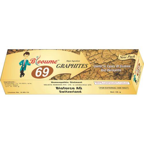 Blooume 69 Graphites Salbe for Eczema, Dermatitis