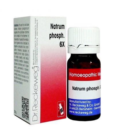 Reckeweg Biochemic Tablets Natrum Phosphoricum 6x for Acidity, heartburn, dyspepsia, indigestion, Sour eructations, Vomiting