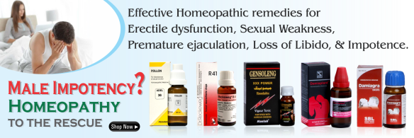 Sex medicine in homeopathy for Impotence, Erectile dysfunction, Loss of Libido, Sexual neurasthanic