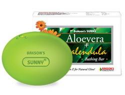 Bakson Aloevera Calendula Bathing Soap for natural glow. Best Herbal Skin care Soap