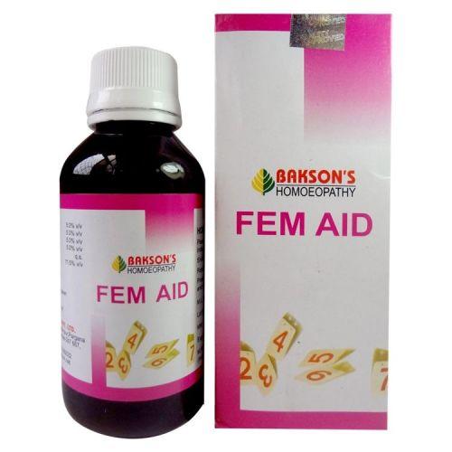 Bakson Fem Aid- Female health tonic for Leucorrhoea, Amenorrhoea, dsymenorrhoea, Menorrhagia, and metrorrhagia