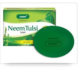 Bakson Neem Tulsi (Basil) Soap with aloevera calendula for healthy Skin