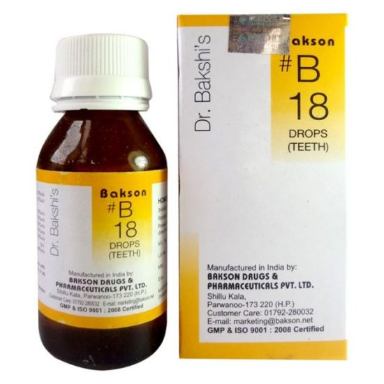Dr.Bakshi B18 Teeth Homeopathy drops for delayed teething, Pyorrhoea