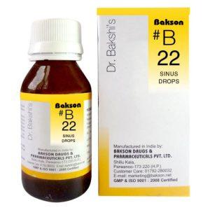 Dr.Bakshi B22 Sinus Drops for nose discharge, sneezing, sinusitis