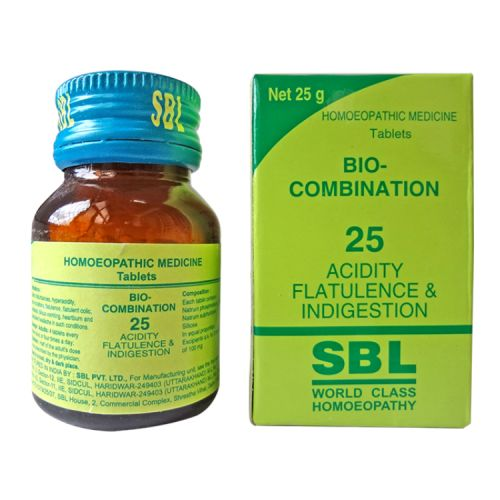 SBL Biocombination 25 (BC25) Tablets for Acidity, Flatulence, Indigestion, gastric disturbances, heartburn