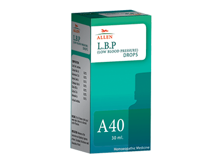 Allen A40 Homeopathy Drops for Low Blood Pressure (L.B.P.)