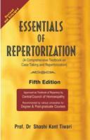 Homeopathy book – Essentials of Repertorization. Author Prof. Dr. Shashi Kant Tiwari