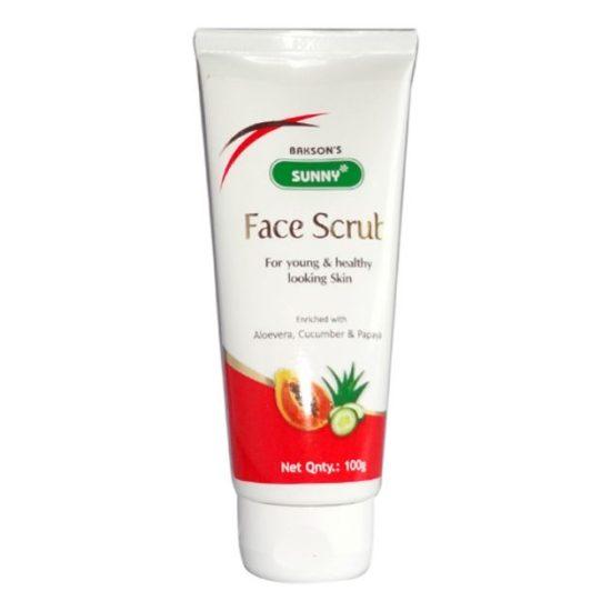 Baksons Sunny Herbals Face Scrub with Aloevera, Papaya, Cucumber