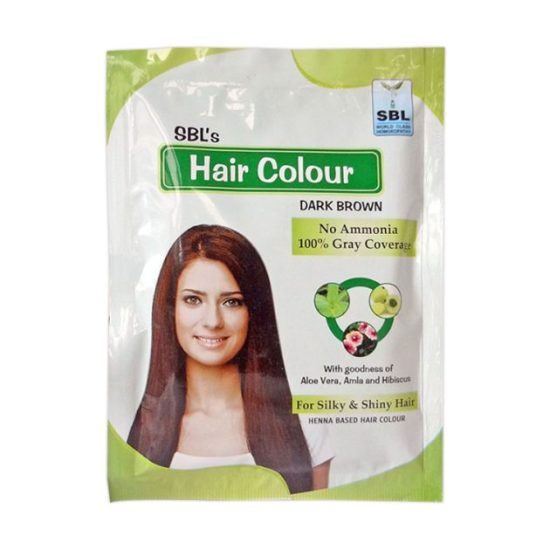 SBL Hair Color Dark Brown- With Goodness of Aloe Vera, Amla and Hibiscus