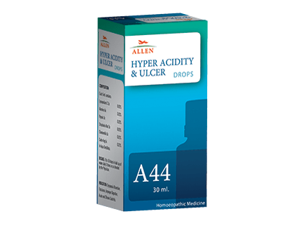 Allen A44 Hyper Acidity and Ulcer Drops for Treating Gastric Ailments