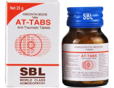 Buy SBL AT Tabs for Trauma and Injuries, first-aid in all cases of accidents for prevention of shock, sprains, fractures, punctured wounds