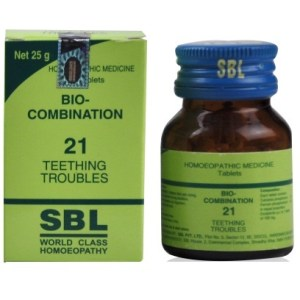 SBL Bio Combination 21 for Teething Troubles, griping and diarrhea.