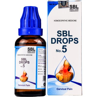 SBL Drops No.5, Homeopathy medicine for Cervical Pain, Neck Pain, Vertigo.