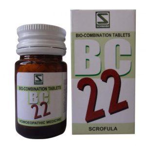 Schwabe Biocombination BC22 Scrofula Tablets, enlarged glands,Mycobacterial cervical lymphadenitis