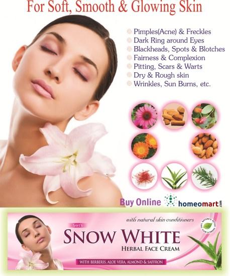 Herbal fairness cream for glowing skin