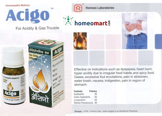 Acigo homeopathy medicine for acidity and gas trouble