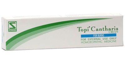 Schwabe Topi Cantharis Cream Homeopathic Medicine for Burns, Blisters