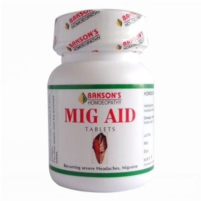 Bakson Mig Aid Tablets for recurring Severe Headache and Migraine, Chronic Migraine treatment Tips