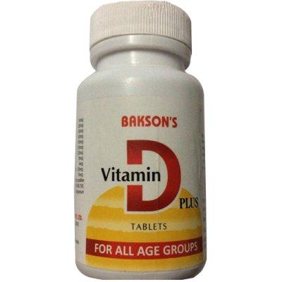 Bakson Vitamin D Plus Tablets - calcium for Strong Bones