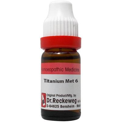 Dr Reckeweg Dilution Titanium Metallicum 6C, 30C, 200C, 1M, 10M. 11ml