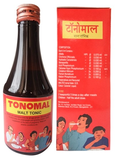 B H P Tonomal Syrup - Malt Based General Tonic
