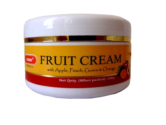 Bakson Sunny Fruit Skin Cream​ with Apple, Peach, Guava And Orange, Fruit Facial solution