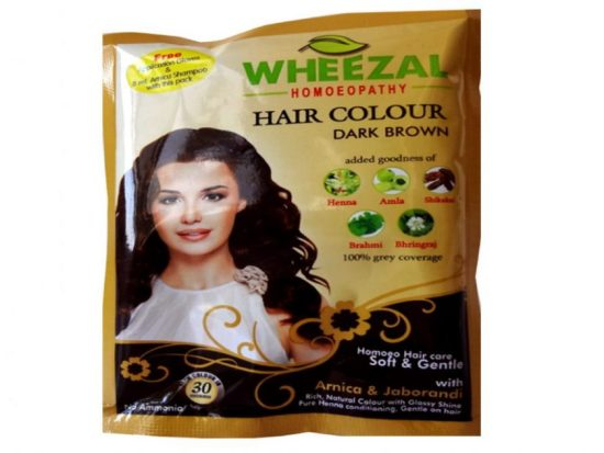 Wheezal Dark Brown Hair Color with Henna, Amla, Shikakai, Brahmi and Bhringraj