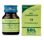 SBL Bio Combination No.18 Tablets for Pyorrhoea - Treats Gum Disease