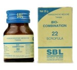 SBL Biocombination 22 (BC22) Tablets for Scrofula, erythema, vesicles, 25gm