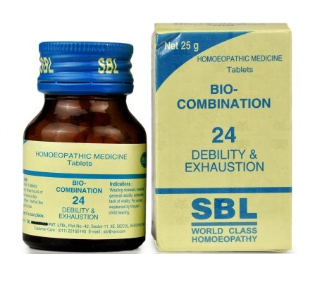 SBL Bio Combination No 24 Tablets for Debility and Exhaustion