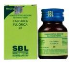 SBL Biochemic Tablet Calcarea Fluorica for Varicose Veins, Piles treatment
