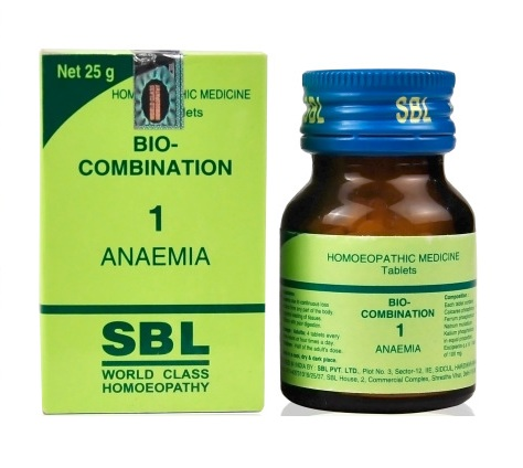 SBL Biocombination 1 (BC1) Tablets for Anaema, Iron Deficiency
