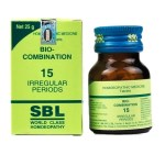 SBL Biocombination 15 (BC15) Tablets for Irregular Periods, scanty menstruation, excessive menstruation, painful menstruation